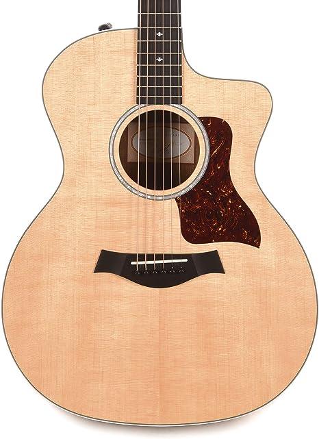 Taylor 214ce Deluxe Grand Auditorium Sitka/Ovangkol Natural ES-2 con estuche rígido: Amazon.es: Instrumentos musicales