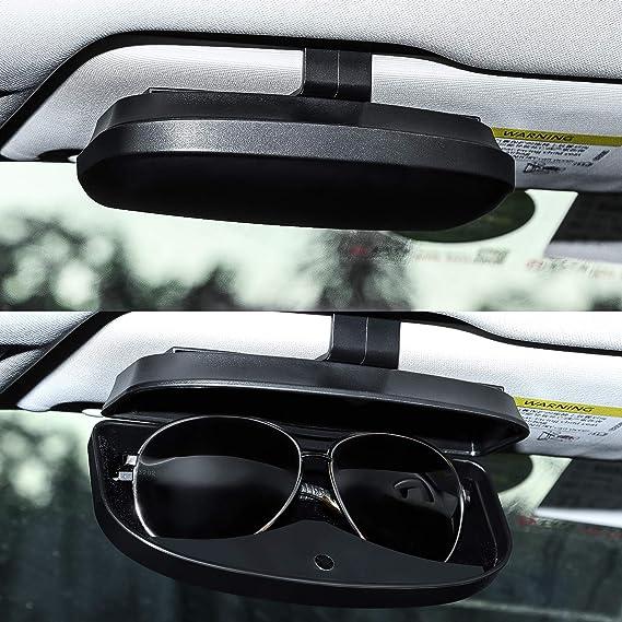 Vosarea Custodia per occhiali da sole universale per auto,