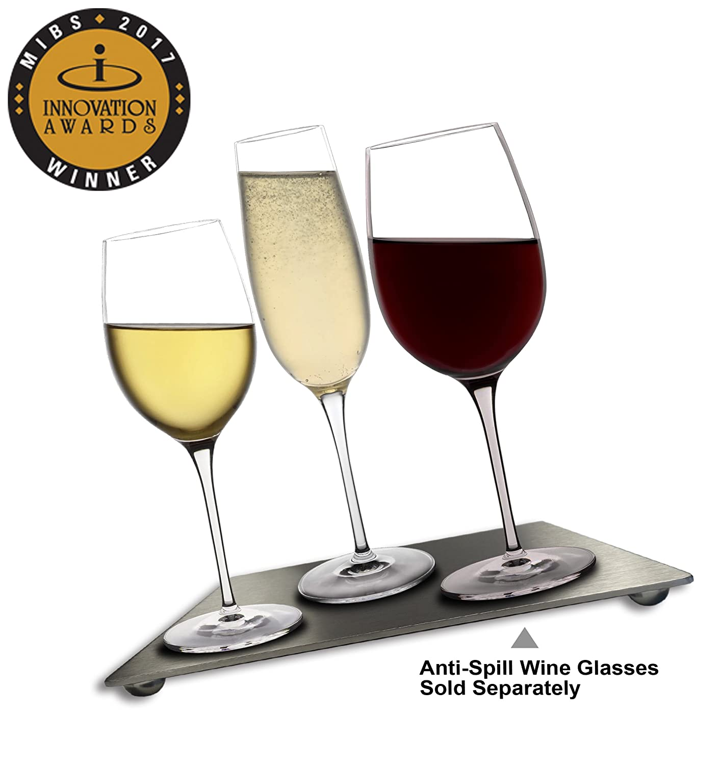 Magnetic Stainless Steel Board for Anti-Spill Wine Glasses