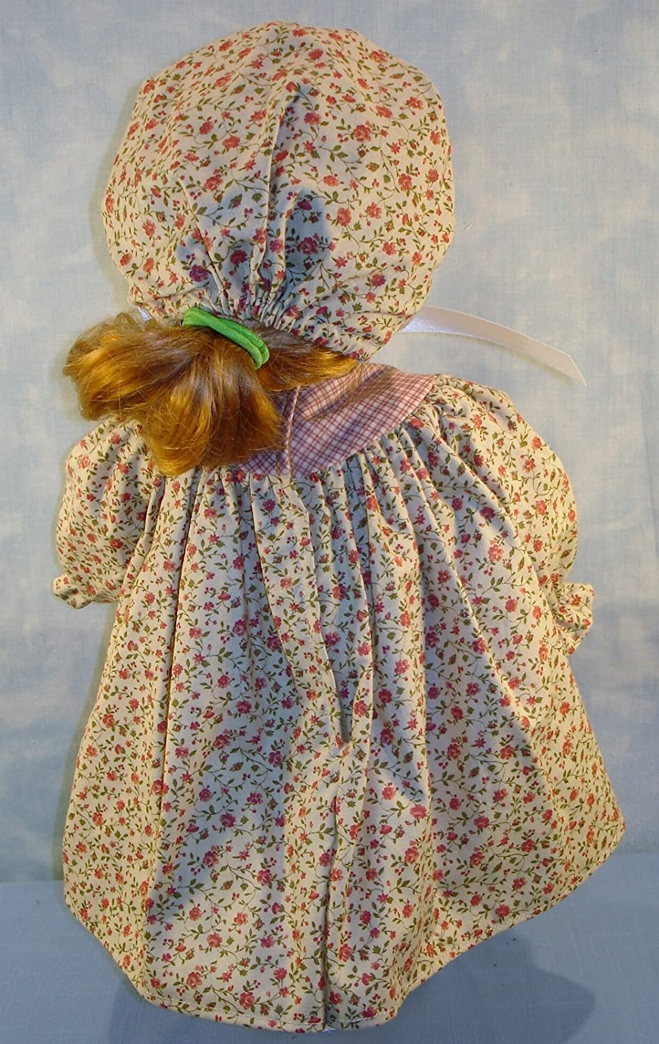 18 Inch Doll Clothes Mauve Calico Prairie Dress handmade by Jane Ellen to fit 18 inch dolls
