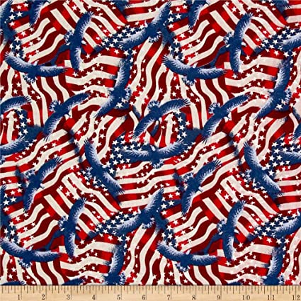American Valor-Collage Print-Wilmington Prints-BTY-Quilts of Valor