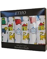 Kids Handkerchiefs 100/% Cotton Printed Alphabet Nursery Rhymes Loose or Boxed