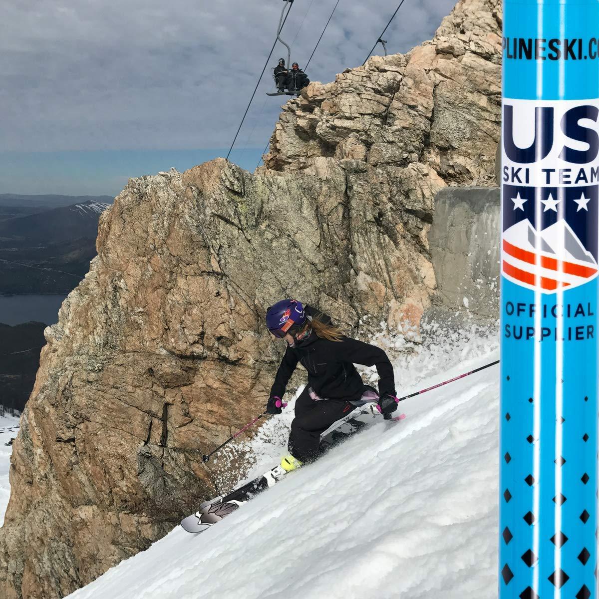 Downhill//Mens//Womens//Kids//Junior//Freestyle//Racing Zipline Ski Poles Carbon Composite Graphite Blurr 16.0 U.S Tropical Blue, 50 in.//127 cm Ski Team Official Ski Pole