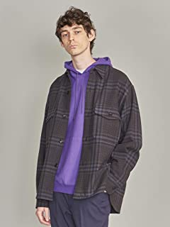 Twiil Dark Plaid CPO Shirt 1226-199-0040: Navy