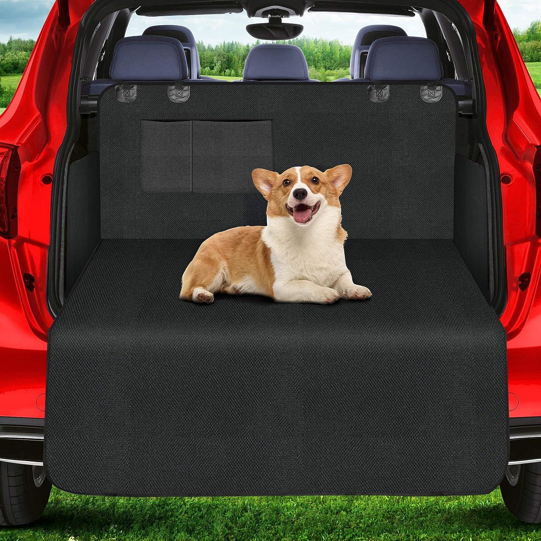 Wimypet Universeller Kofferraumschutz Kofferraumdecke Für Hunde Wasserdichter Kofferraum Hundedecke Auto Schutzdecke 2 In 1 Mit Seitenschutz Für Pkw Lkw Van Und Suv 180x103 Cm Haustier