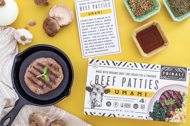 TRIBALÍ Foods Organic Patties, 4-Pack, Umami Beef (16 Patties): Amazon.com: Grocery & Gourmet Food