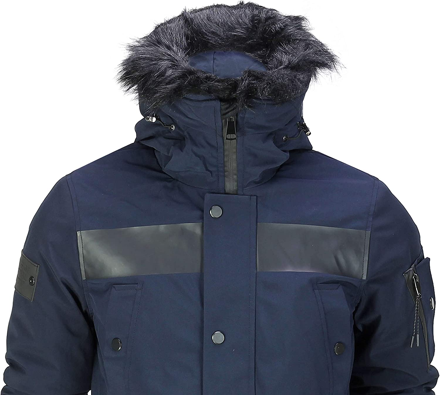 Generic Mens Winter Hooded Thick Outwear Warm Slim Padded Down Jacket Coat