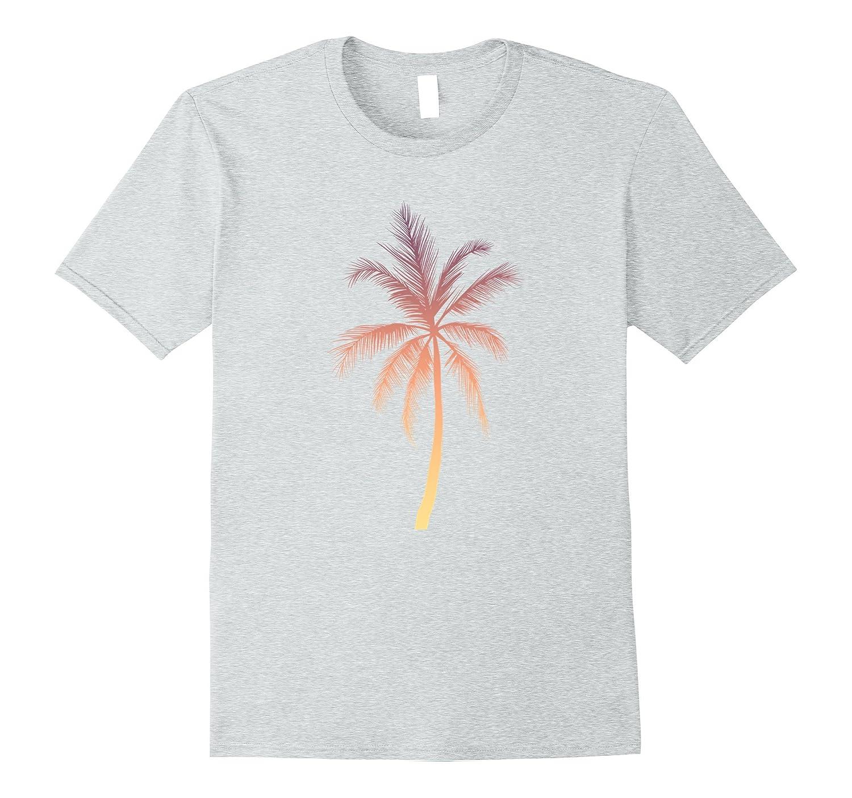 84ad59c8eb7 Palm Tree T-Shirt Hawaiian Tropical Summer Vacation Shirts-PL ...