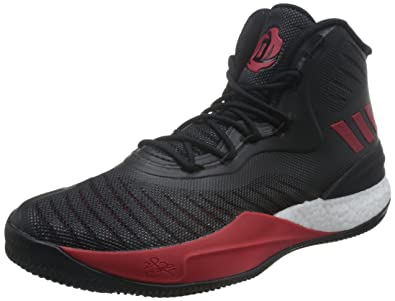 newest 8e74f 4d010 adidas Herren D Rose 8 Turnschuhe, Mehrfarbig (Core Black Scarlet FTWR White