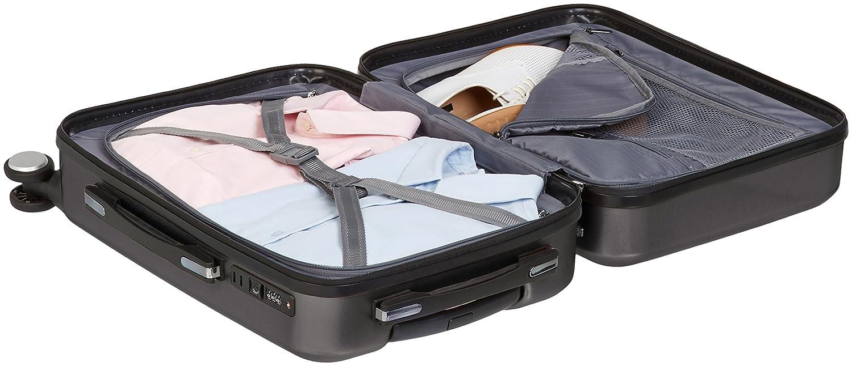 Argent/é Basics Bagage de cabine m/étallis/é avec roulettes pivotantes 55 x 40 x 20 cm