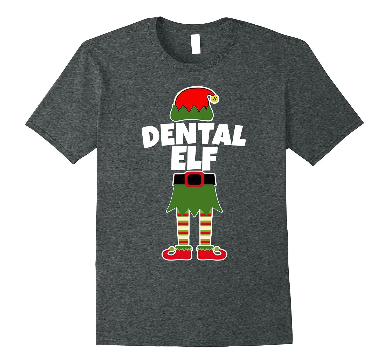 DENTAL ELF Christmas T Shirt Dentist Assistant Hygienist-FL