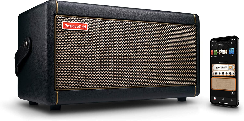 Positive Grid Spark Guitar Amplifier, Electric, Bass and Acoustic Guitar 40-Watt Combo Amp, Mobile App