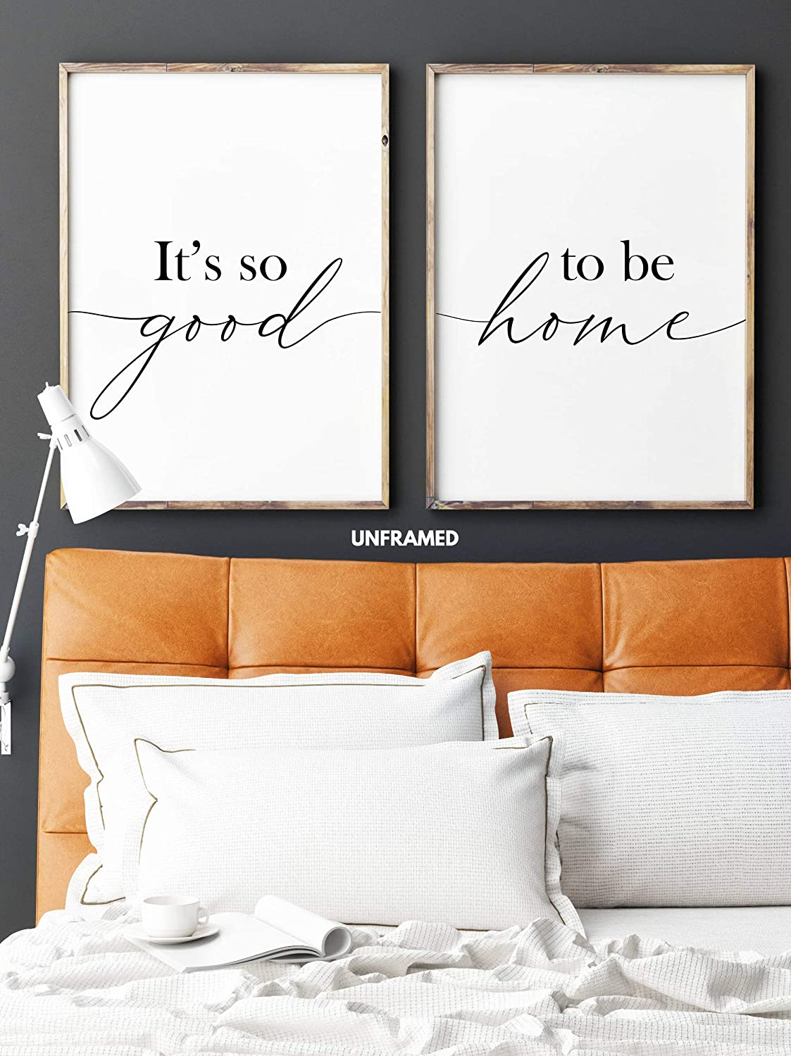 It's so Good to be Home, Unframed, 18 x 24 Inches, Set of 2, Posters, Minimalist Art Typography Art, Bedroom Wall Art, Romantic Wall Decor