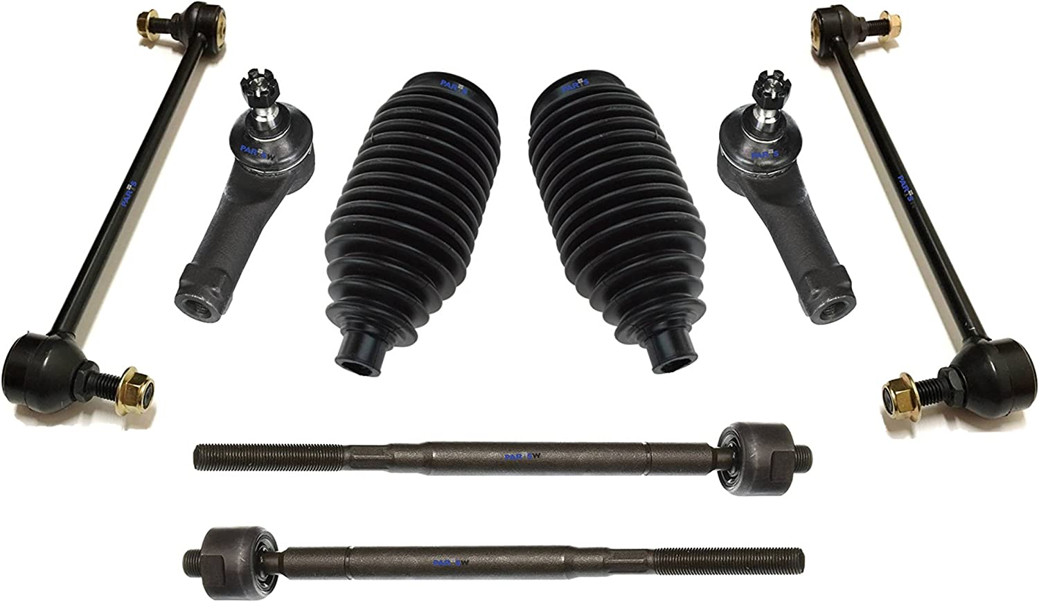 Lower Control Arms Rack /& Pinion Bellow Boot PartsW 10 Pc Suspension Kit For Honda Odyssey 2002-2004 Tie Rod Ends /& Sway Bars