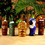 Ceramica Luau Tiki Party Pack–Set di 5tazze Cocktail in ceramica