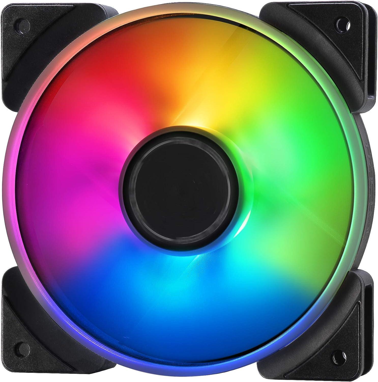 Fractal Design Prisma Al-12 – 120mm Silent Computer Fan - PWM Control - Six LEDs - ARGB - Optimized for Silent Computing - High Airflow - LLS Bearings - Tripwire Technology - RGB (3-Pack)