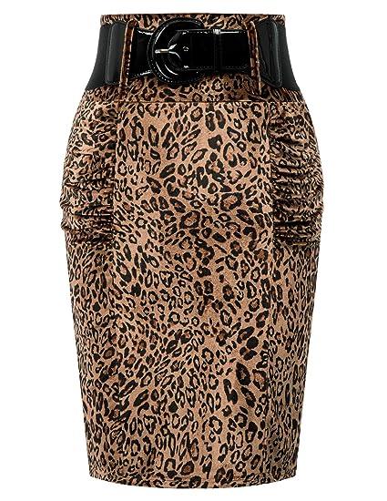 Belle Poque Rockabilly Rock - Falda para Mujer (Larga hasta la ...