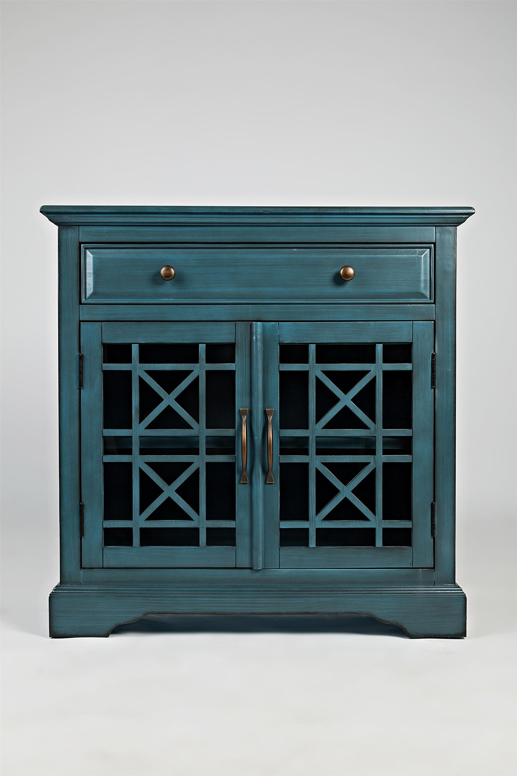 Jofran: 175-32, Craftsman, Accent Chest, 32''W X 15''D X 32''H, Antique Blue Finish, (Set of 1) by Jofran