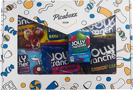 Picaboxx Jolly Rancher Gran caja de regalo American Candy Selection ☆ 10 productos Mega Pack ☆ American Candy Hamper ☆ Caja de regalo dulce con ventana de visualización: Amazon.es: Alimentación y bebidas