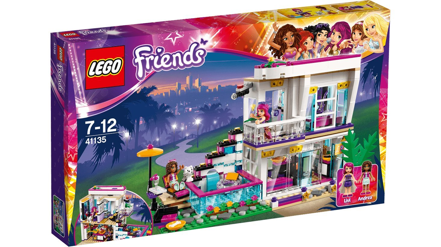 Lego 41135 Friends Livis Pop Star House Multi Coloured Amazonco