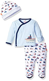 Magnificent Baby Baby-Boys Magnetic 3-Piece Kimono Pant and Hat Set Pants Set