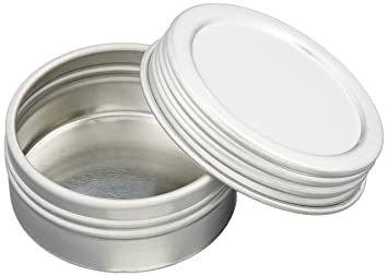 Shallow Screw Top Tin Can. Great for Storing Small