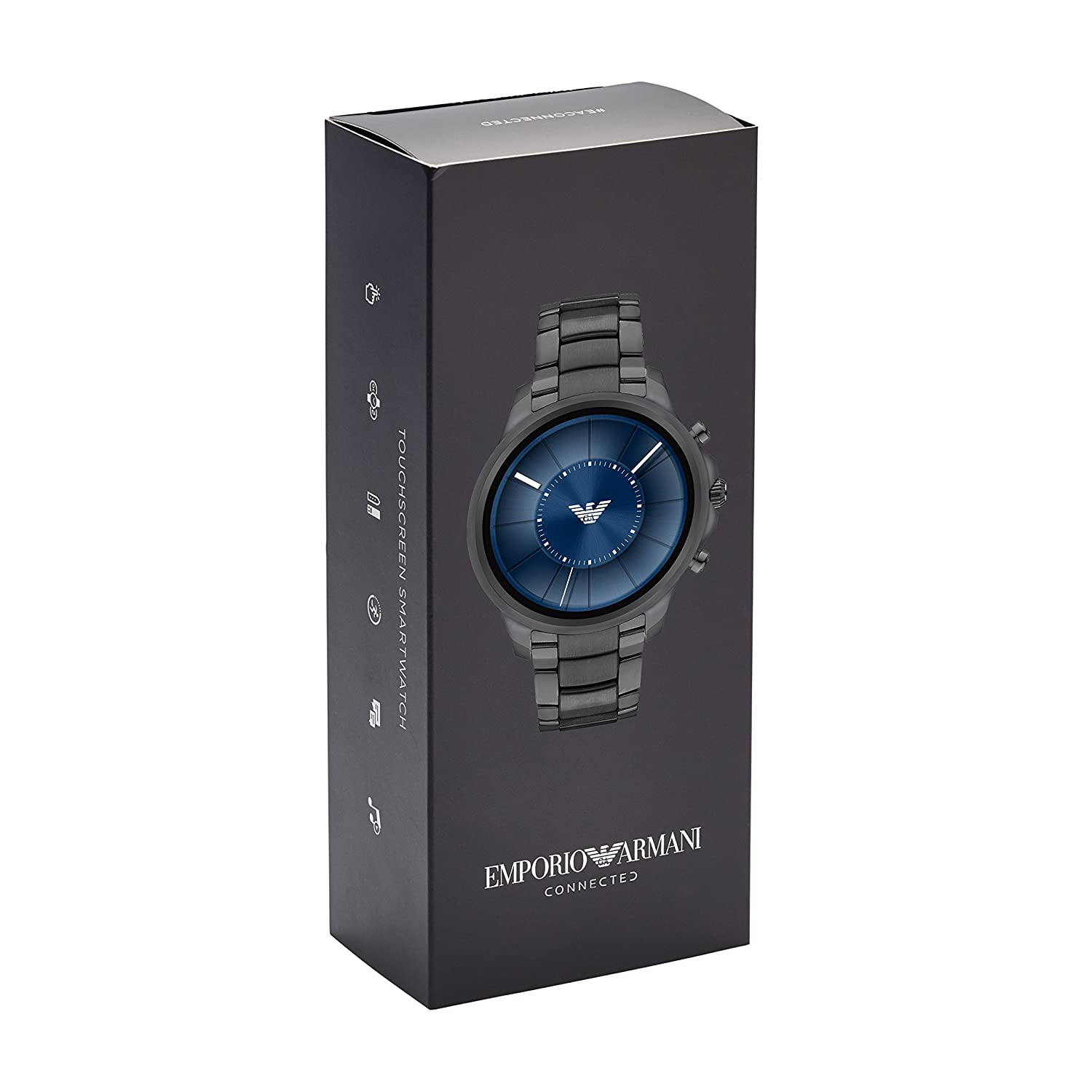 Emporio Armani Mens Smartwatch, Gunmetal Stainless Steel, ART5005