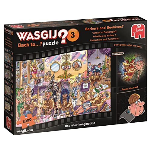 Wasgij 19147 Back to 3 Barbers and Beehives Jigsaw Puzzle, 1000-Piece