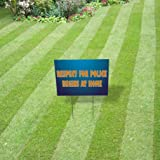 Plastic Weatherproof Yard Sign Respect for Police