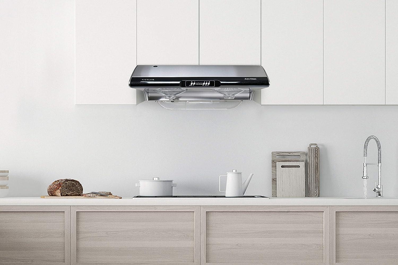 Hauslane C395 - Campana extractora de cocina para debajo del gabinete (36 pulgadas, acero inoxidable fino, con autolimpieza, ajuste de 6 velocidades, ventilador de escape de 750 CFM y lámpara incandescente |