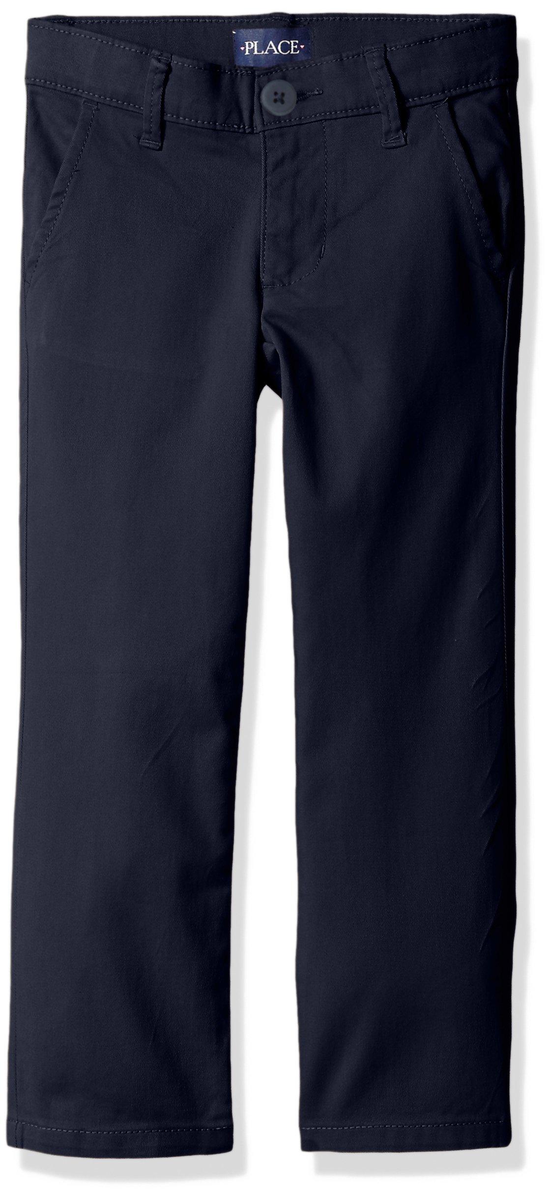 The Children's Place Little Girls' Skinny Uniform Pant, Tidal, 5