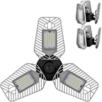 Deals on 2-Pk LZHOME Deformable LED Garage Ceiling Lights 9000 Lumens
