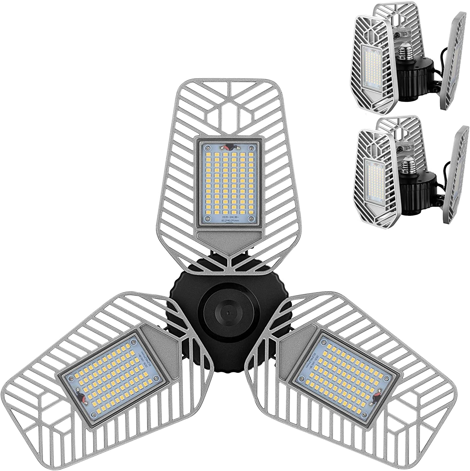 Deformable LED Garage Ceiling Lights 9000 Lumens