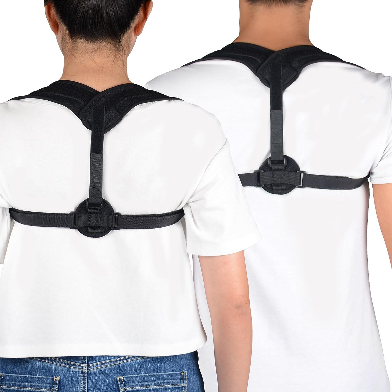 UncleHu Adjustable Posture Corrector for Women & Men, Upper Back Support Brace, Reducing Pain and Correcting Bad Posture, Shoulder Alignment
