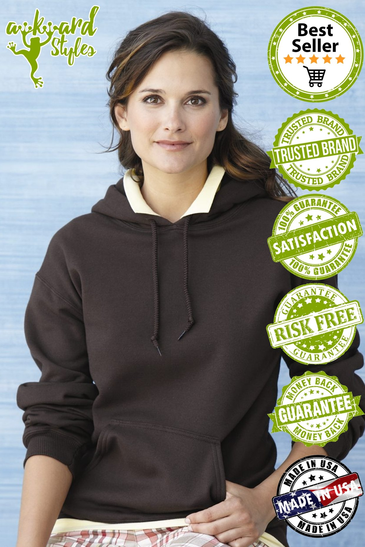 Awkward Styles Women's Labrador Retriever Mom Graphic Hoodie Tops Dog Mom Black L by Awkward Styles (Image #3)