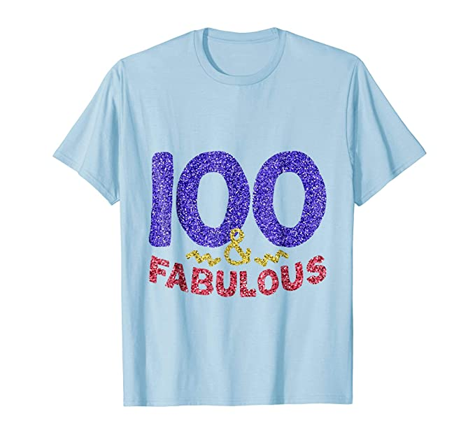 Mens 100th Birthday Shirt Women Gift Funny 100 Year Old Grandma 2XL Baby Blue