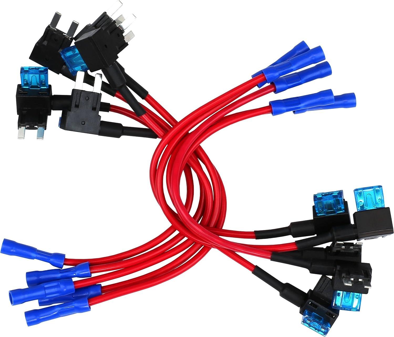 autotap fuse box wire amazon com 10 pack epauto 12v car add a circuit fuse tap  epauto 12v car add a circuit fuse tap