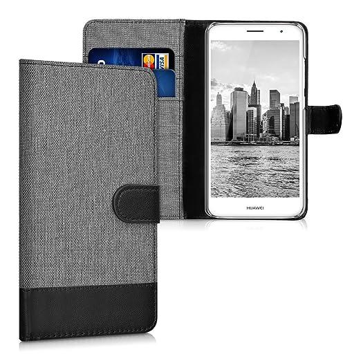 2 opinioni per kwmobile Custodia portafoglio per Huawei Nova Plus- Cover in simil pelle a libro