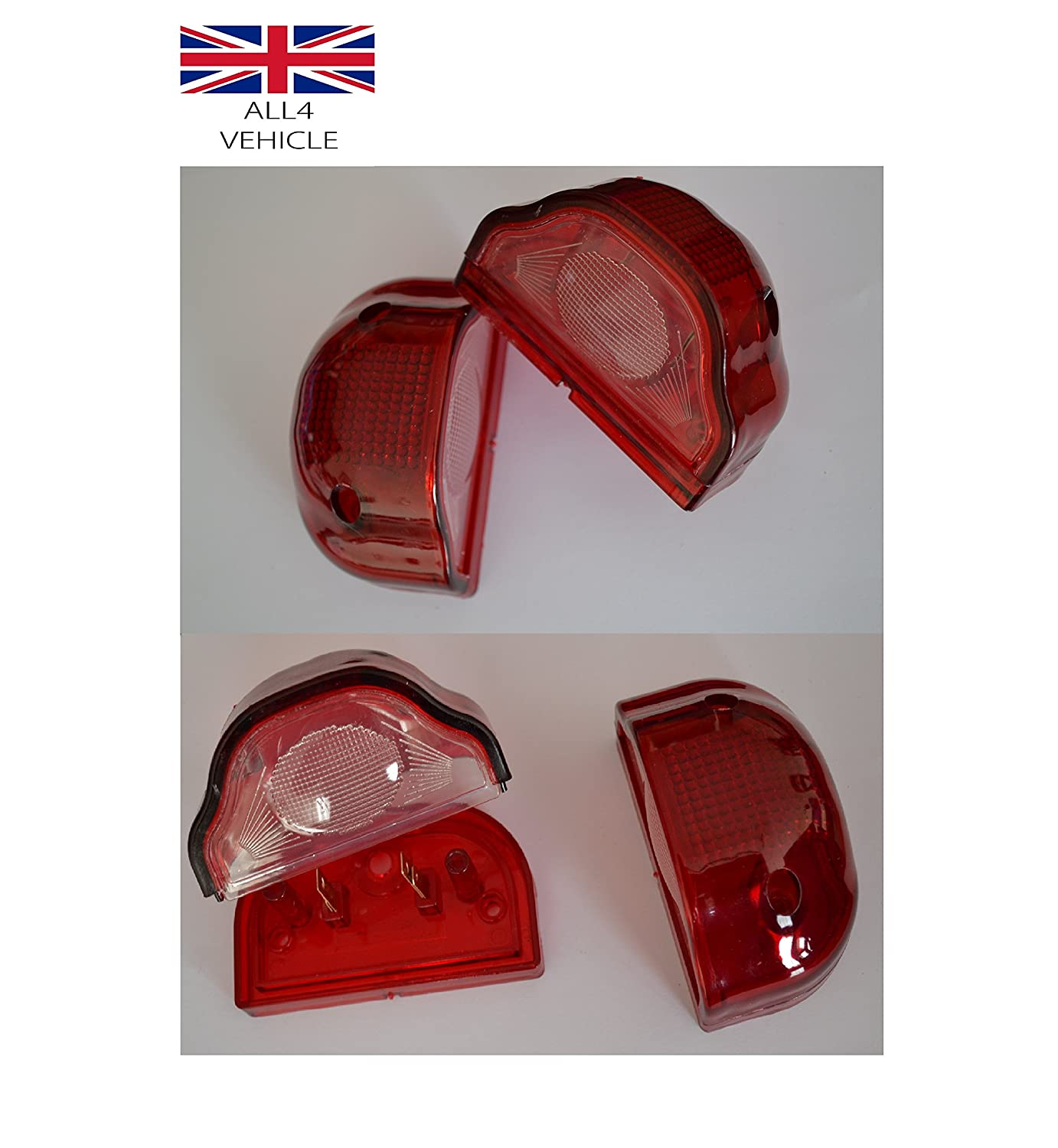 4X RED NUMBER PLATE LAMPS FRONT REAR MARKER LIGHTS TRUCK LORRY BUS CHASSIS VAN EAS LTD