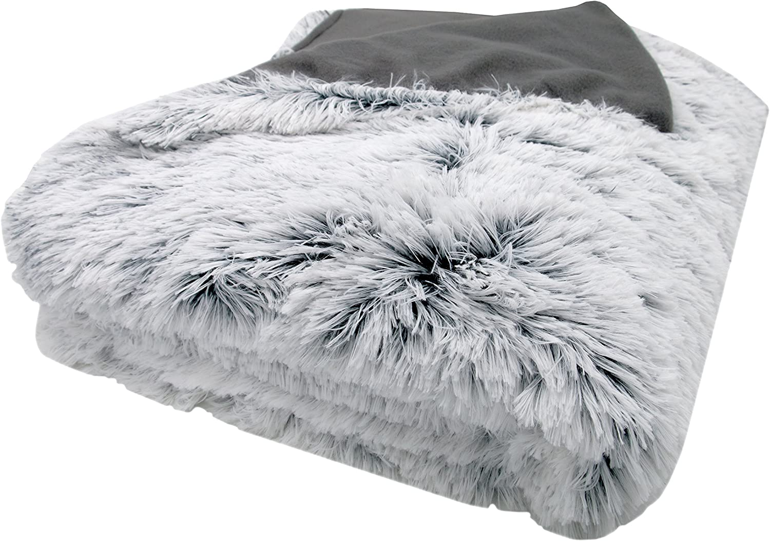 Wolf Throw Neutral Faux Fur Luxury Hotel Quality Blanket /& velvet Cushion Cover