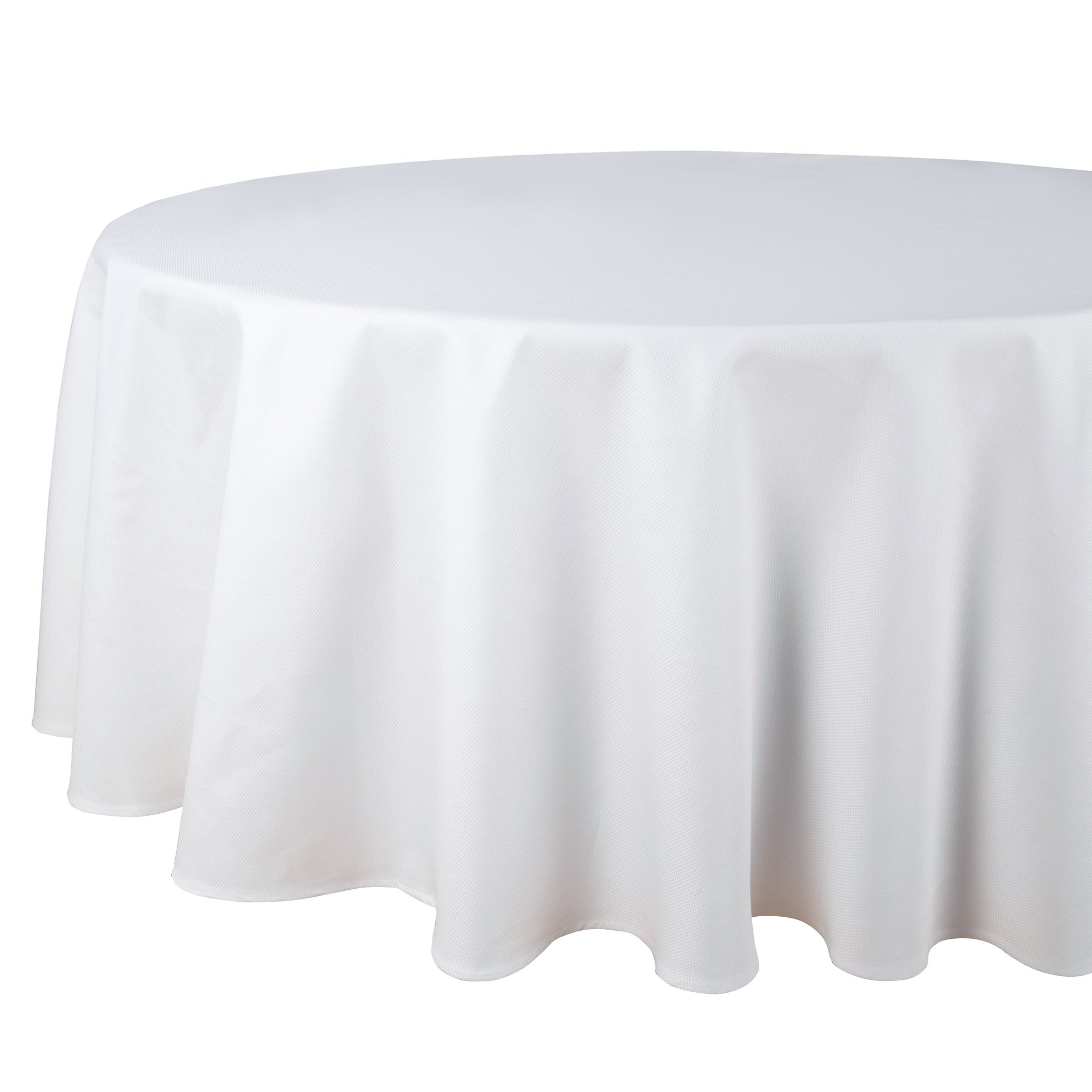 Riegel DPA-90RD-WHT Restaurant Series Round Combed Cotton Pique Tablecloth, 90-Inch, White