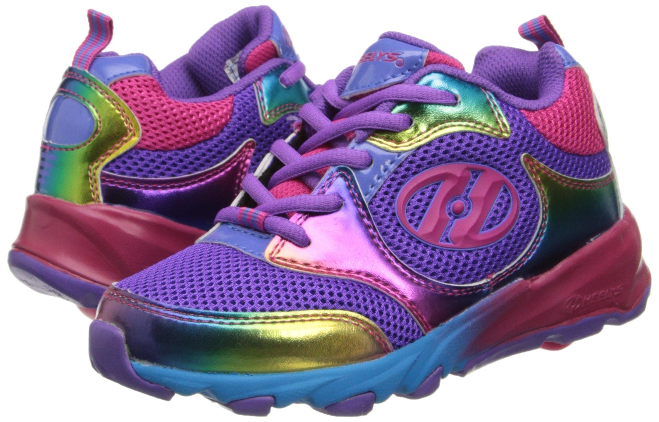 Heelys Race Skate Shoe (Little Kid/Big Kid),Purple/Rainbow,2 M US Little Kid by Heelys (Image #6)
