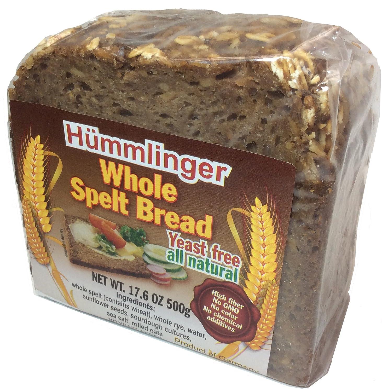 Hummlinger Yeast Free Whole Spelt Bread, GMO FREE 17 6 oz (6 packs)