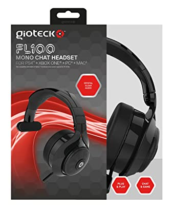 Gioteck FL100 Wired Mono Chat Headset (PS4/Xbox One/Mac/PC