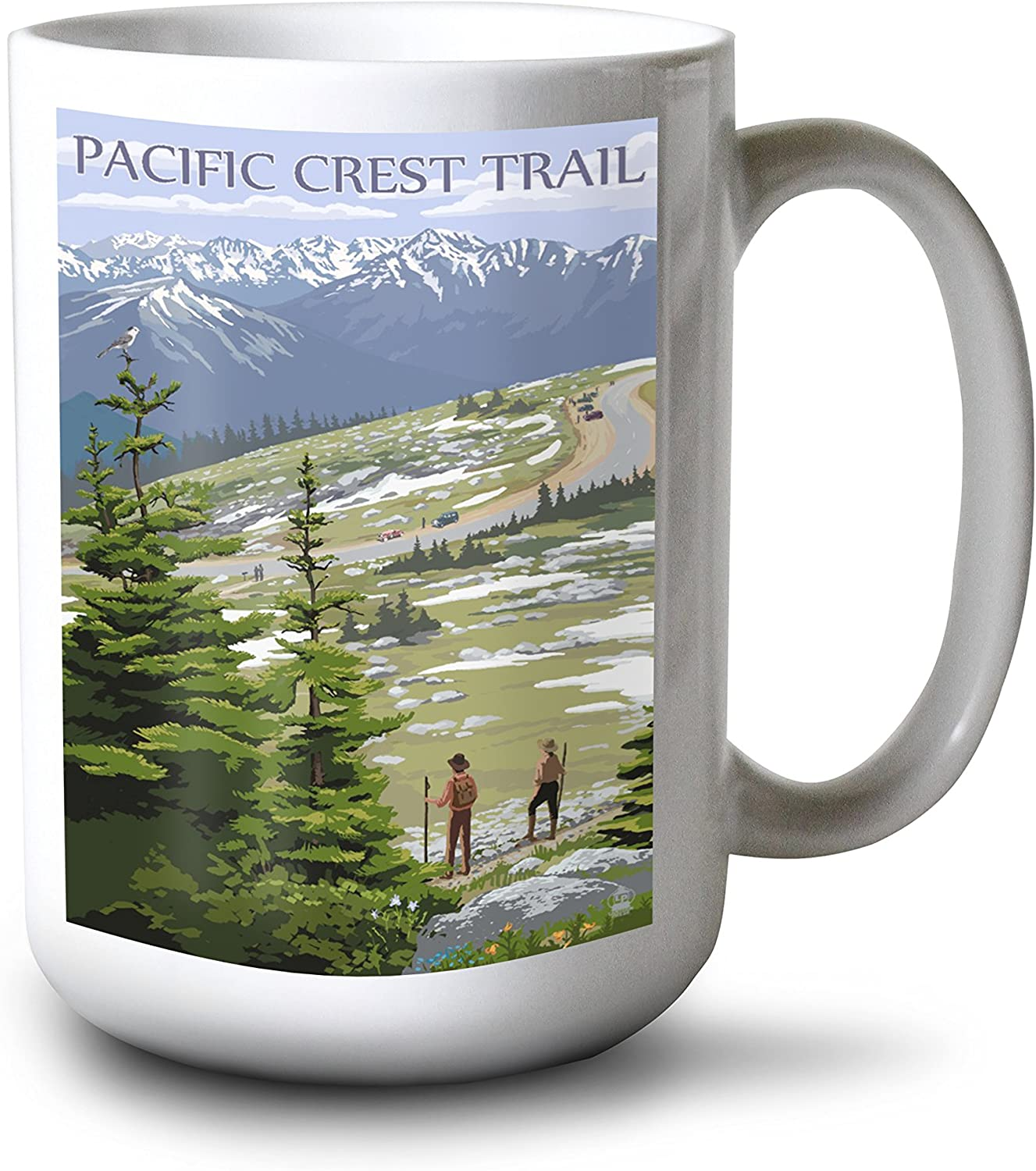 Pacific Crest Trail and Hikers (15oz White Ceramic Mug)