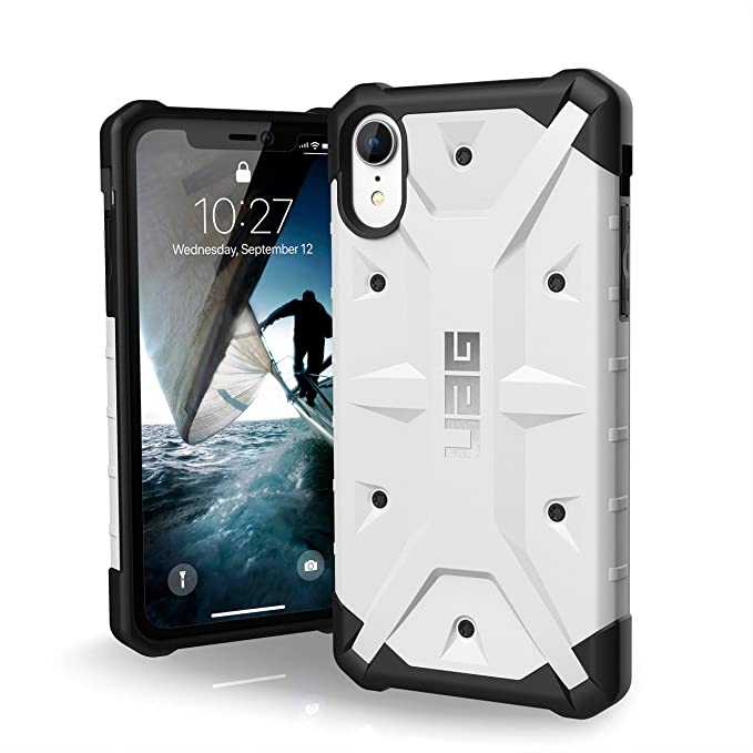sports shoes 83935 0615b URBAN ARMOR GEAR UAG iPhone XR [6.1-inch Screen] Pathfinder Feather-Light  Rugged [White] Military Drop Tested iPhone Case