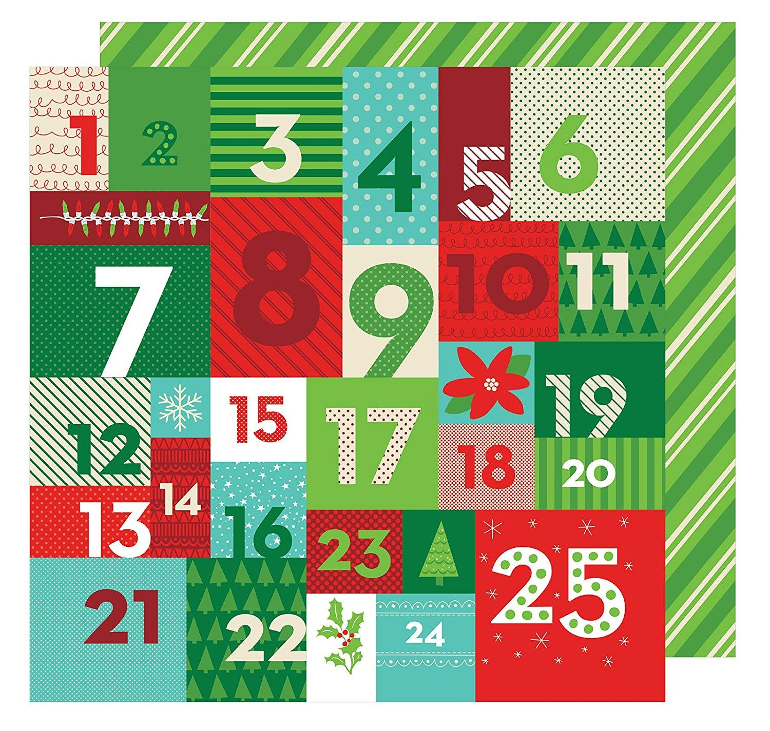 All Wrapped Up Collection Christmas 12 X 12 Double Sided Paper Advent (6 Pack)