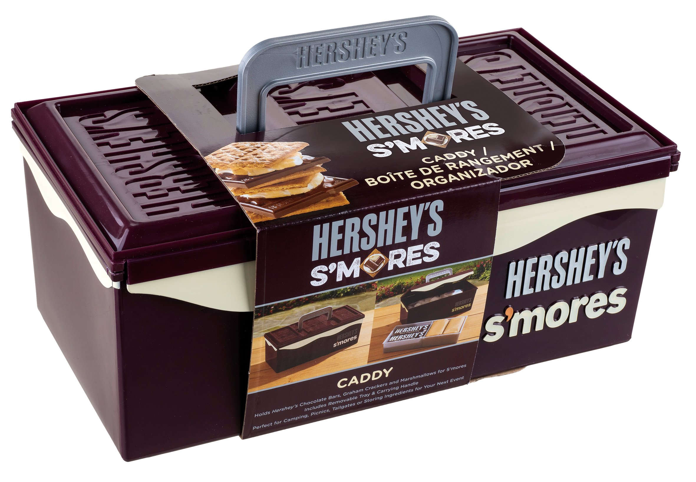 Hershey's 01211HSY S'mores Caddy with Tray, Brown