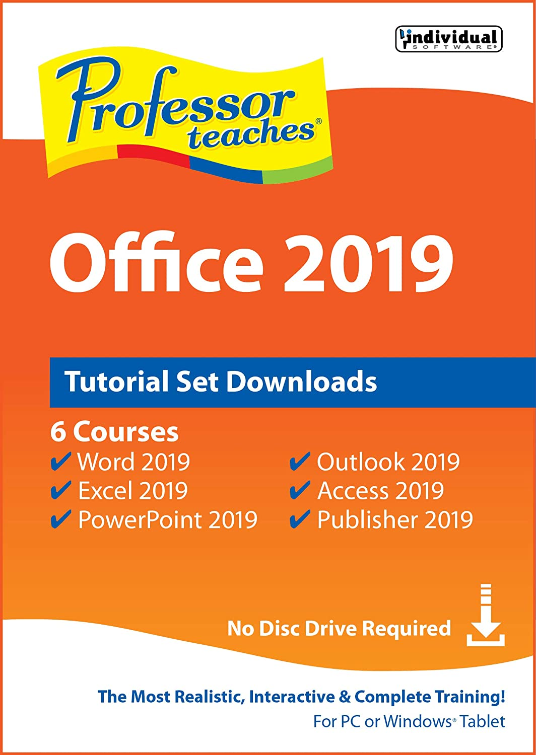 Professor Teaches Office 2019 Tutorial Set Downloads [PC Online code]