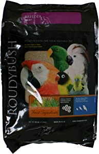 RoudyBush Breeder Bird Food, Nibbles, 25-Pound